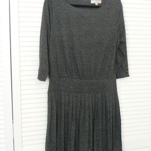Gray, Pleated Loft Dress